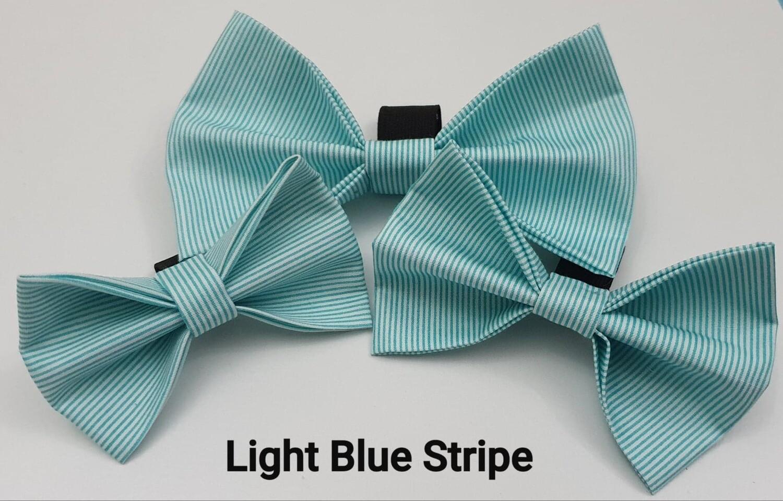 Light Blue Stripe Bowtie