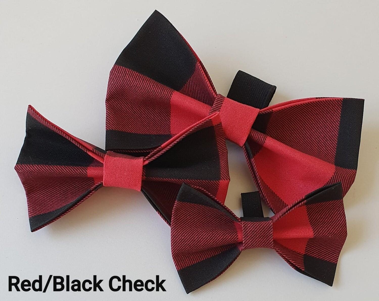 Red/Black Check Bowtie
