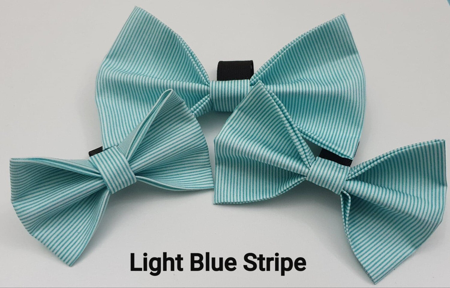 Light Blue Stripe Bowtie