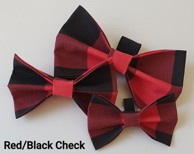Red/Black Check Bowtie