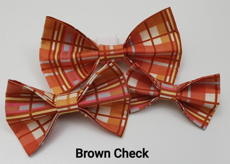 Brown Check Bowtie