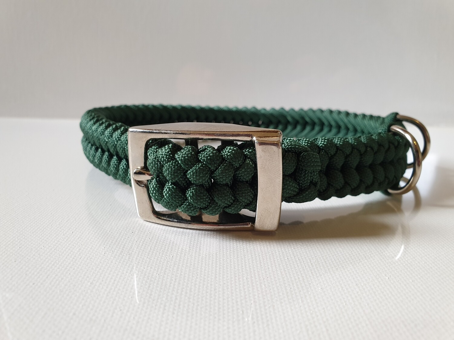Sanctified Medium Hunter Green Dog Collar