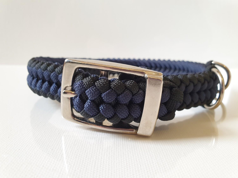 Sanctified Medium Navy/Black Dog Collar