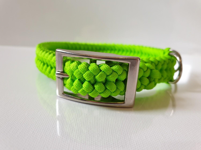 Sanctified Medium Lime Green Dog Collar