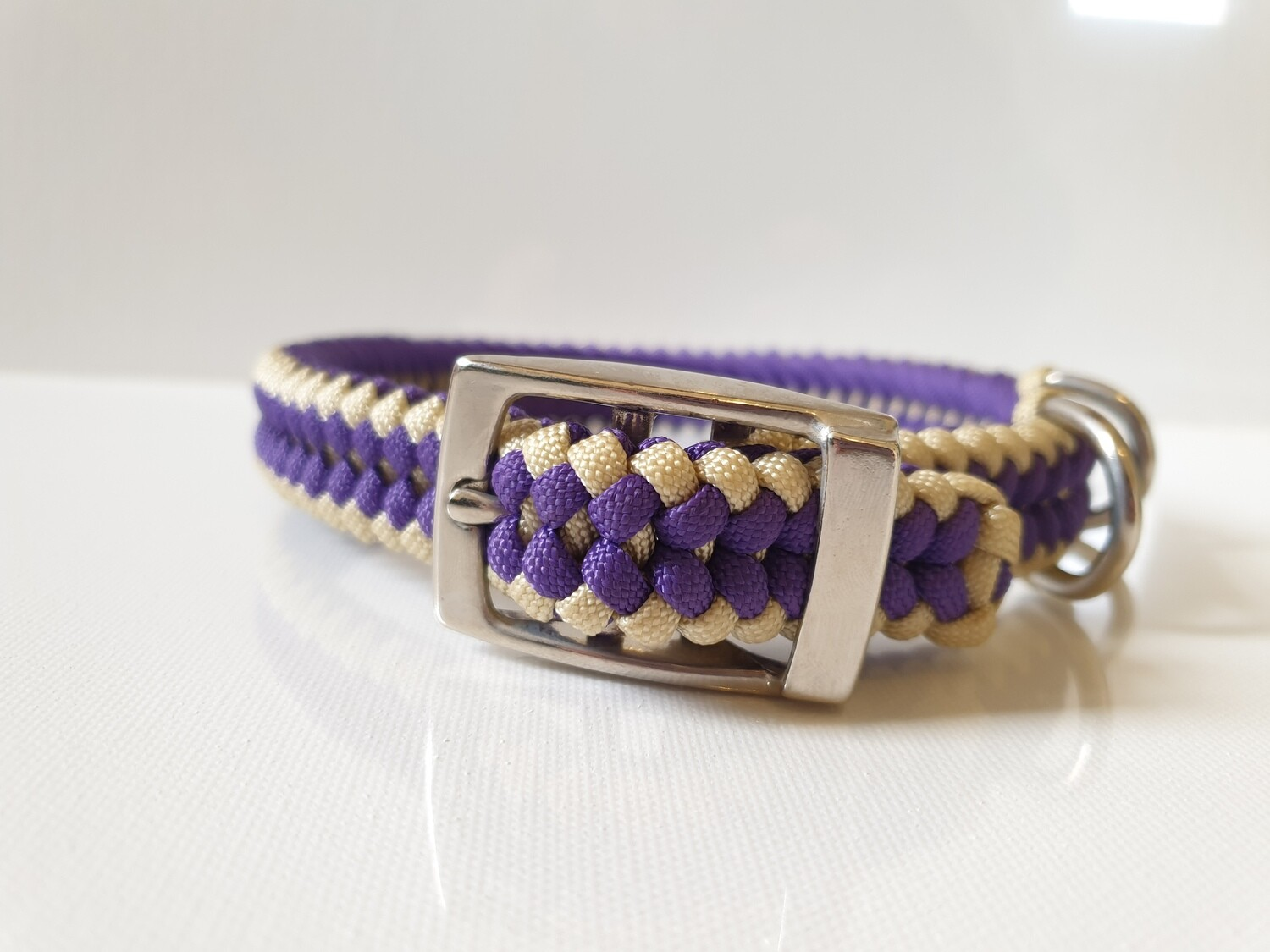 Sanctified Medium Purple/Beige Dog Collar
