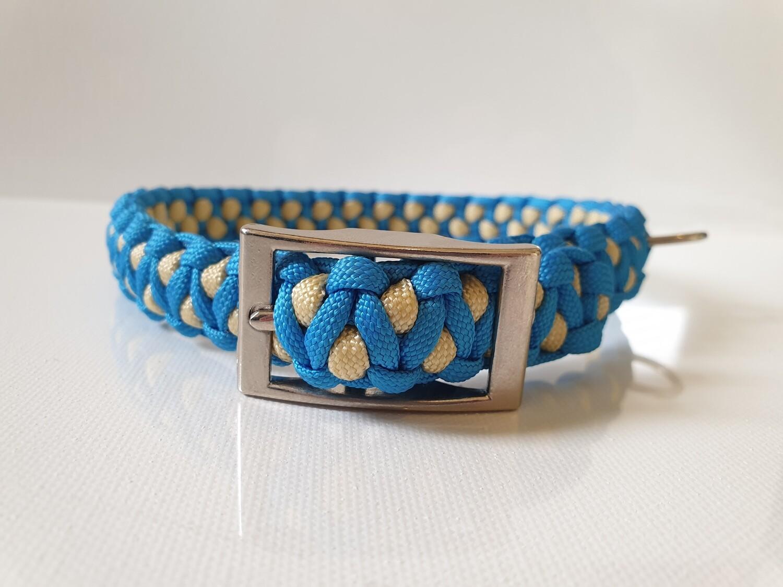 Drakon Medium Blue/Beige Dog Collar