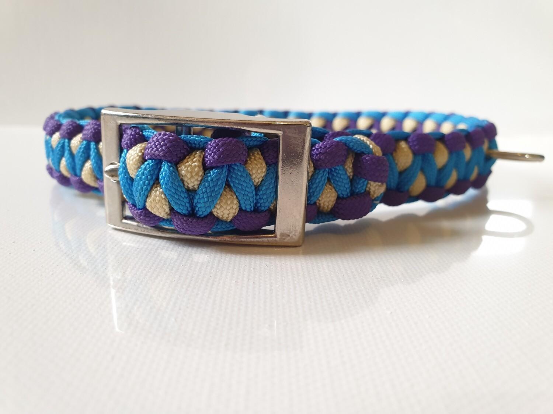 Drakon Medium Blue/Purple/Beige Dog Collar