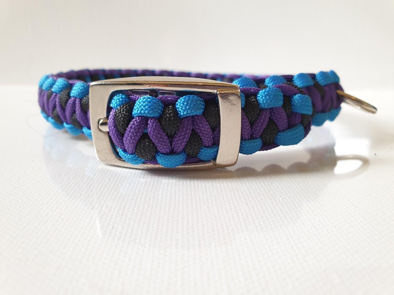 Drakon Medium Blue/Purple/Black Dog Collar