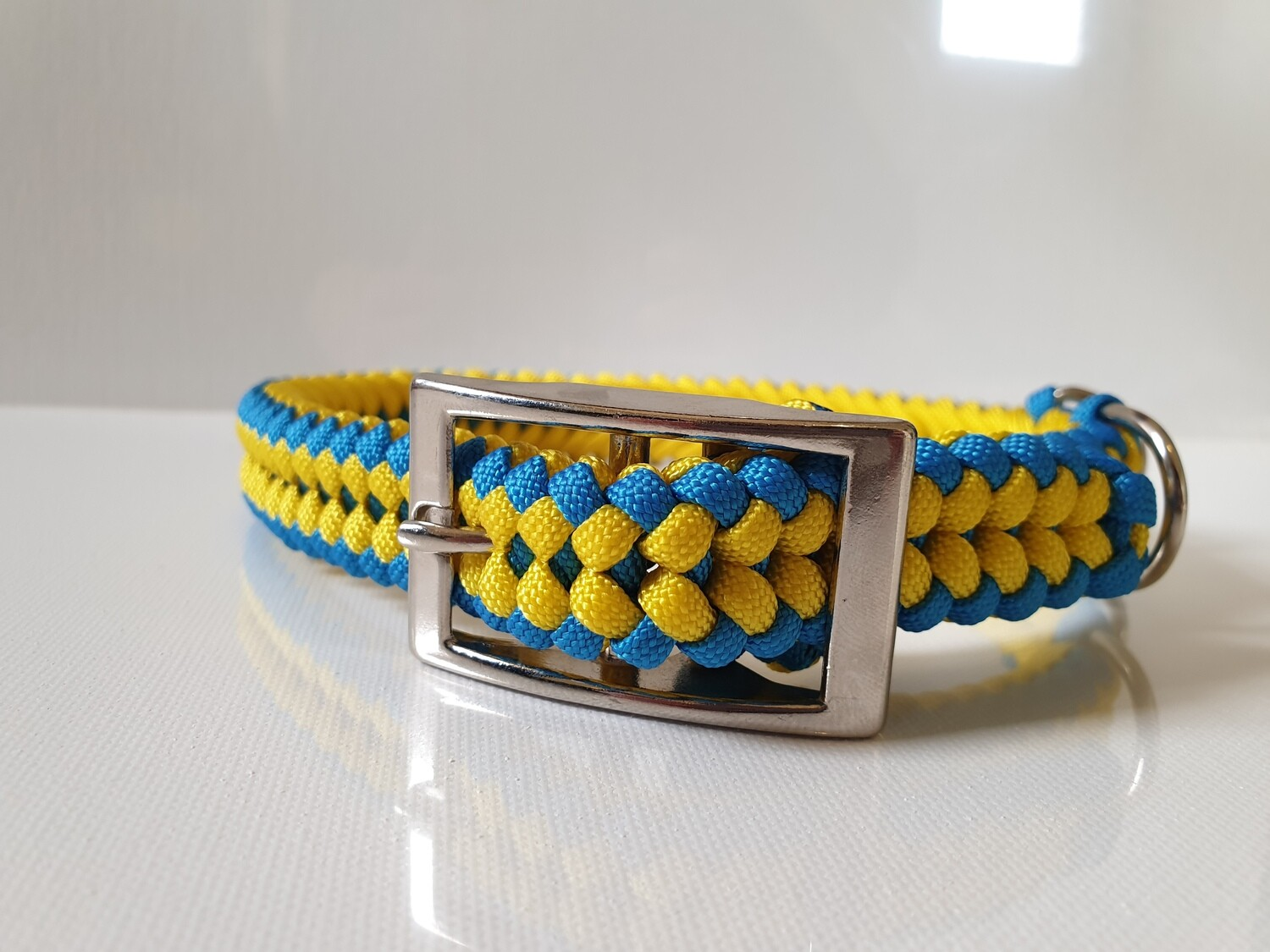 Sanctified Medium Yellow/Blue Dog Collar