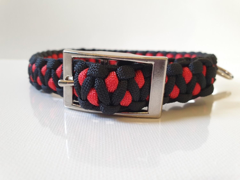 Drakon Medium Red/Black Dog Collar