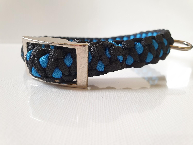 Drakon Medium Blue/Black Dog Collar
