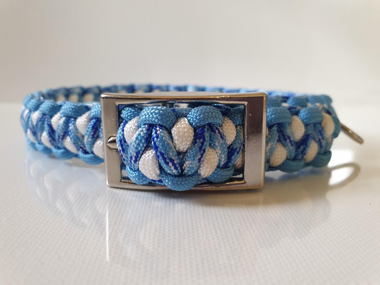 Drakon Medium Light Blue/Methane/White Dog Collar