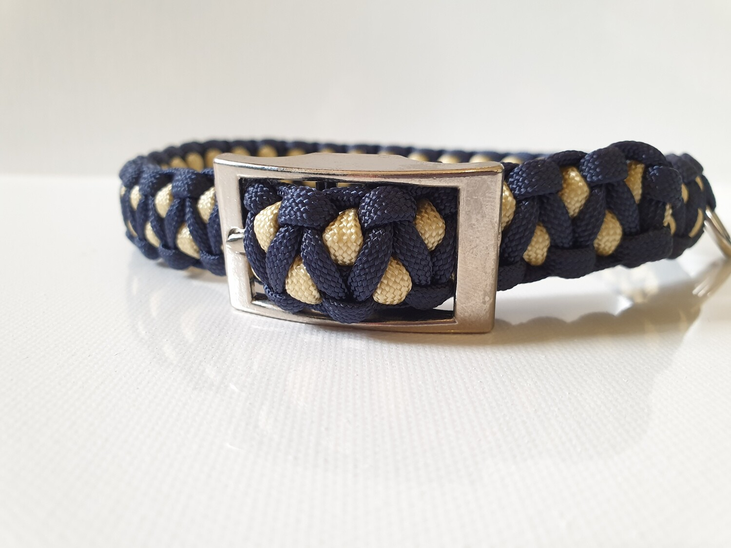 Drakon Medium Navy/Beige Dog Collar