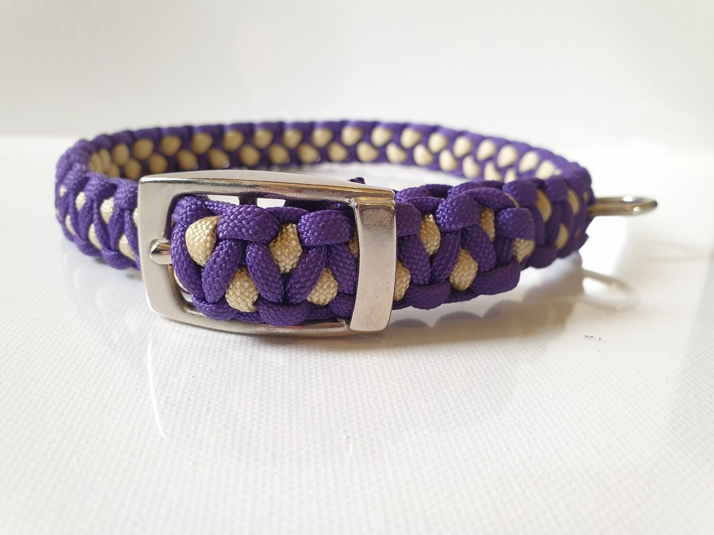Drakon Medium Purple/Beige Dog Collar