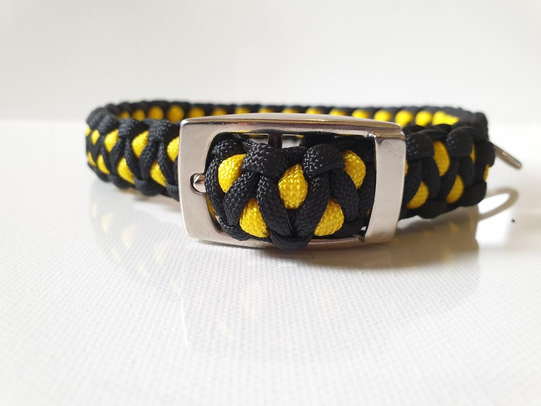 Drakon Medium Yellow/Black Dog Collar