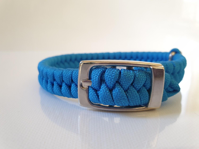 Flat Braid Extra Small Blue Dog Collar