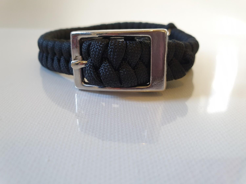 Flat Braid Extra Small Black Dog Collar