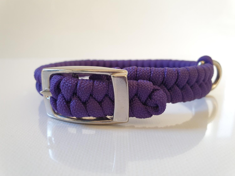Flat Braid Extra Small Purple Dog Collar