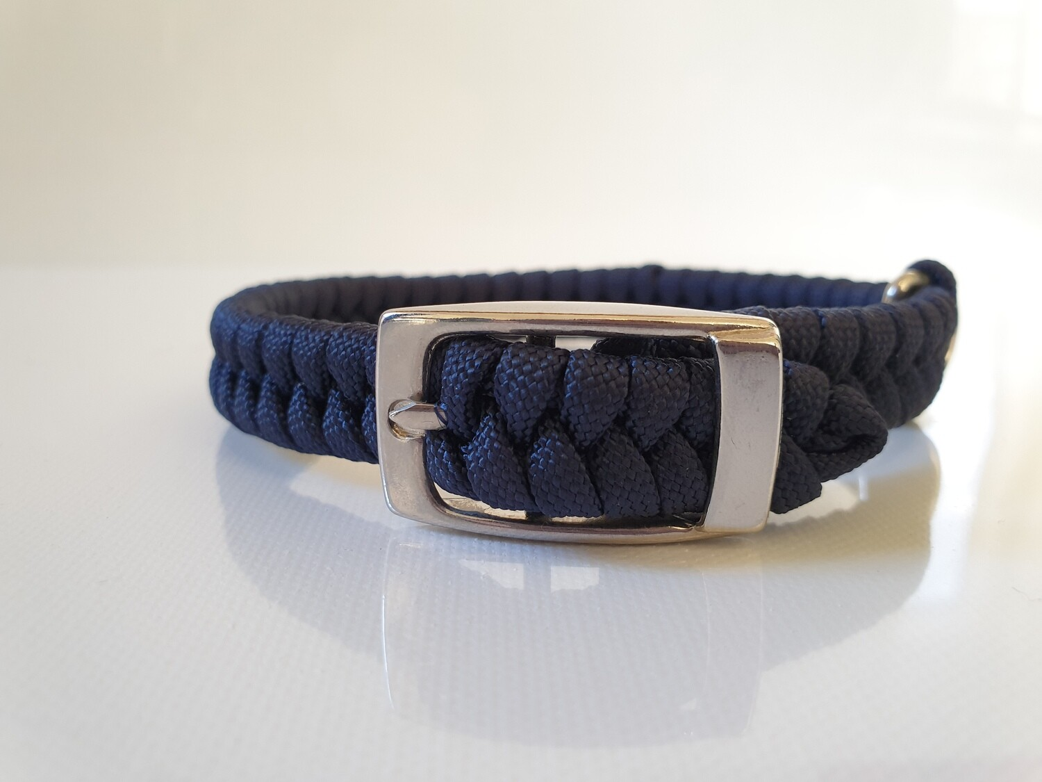 Flat Braid Extra Small Navy Dog Collar