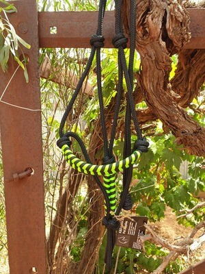 Aztec Black/Lime Green Rope Halter