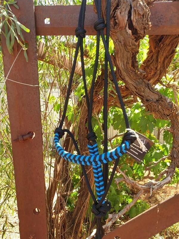 Aztec Black/Blue Rope Halter