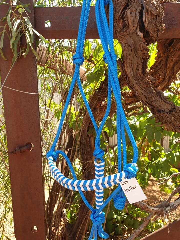 Aztec Blue/White Rope Halter