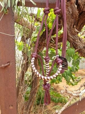 Aztec Burgundy/Beige Rope Halter