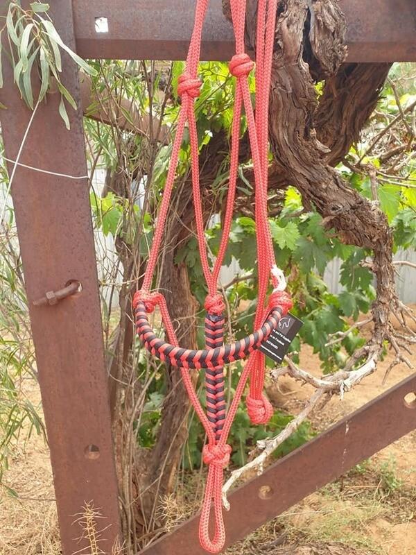 Aztec Red/Black Rope Halter