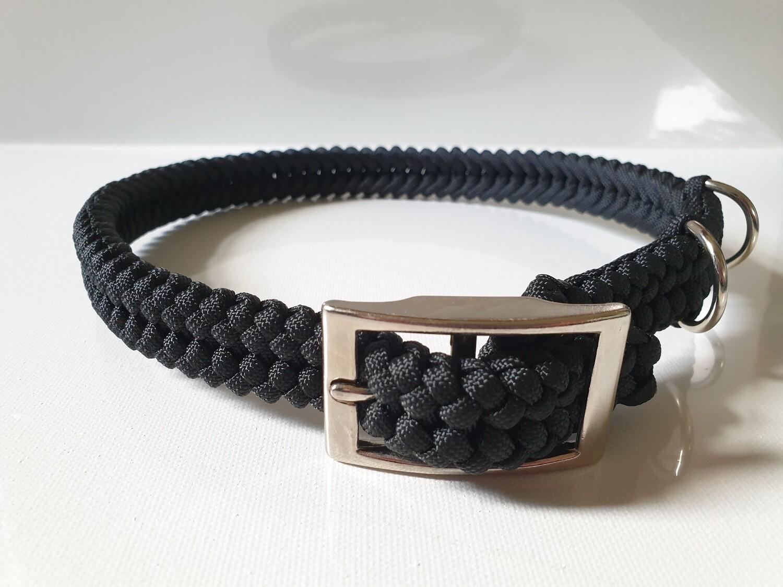 Sanctified Large Black Dog Collar
