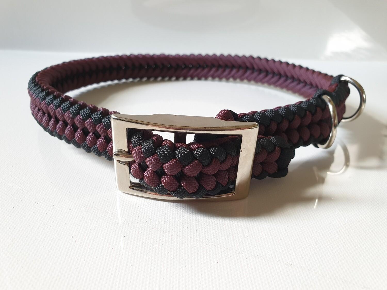 Sanctified Large Burgundy/Black Dog Collar