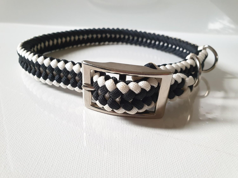 Sanctified Large White/Black Dog Collar