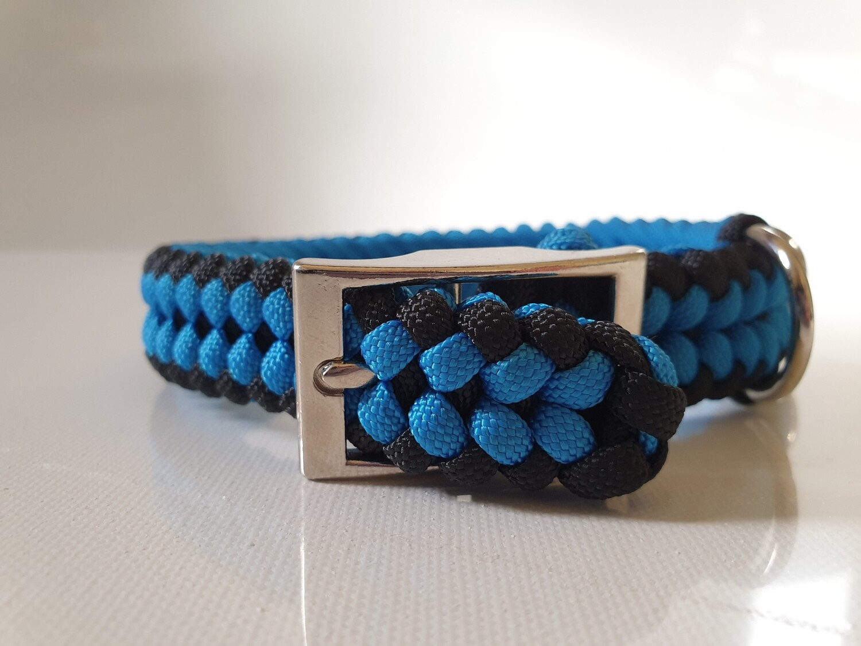 Sanctified Small Blue/Black Dog Collar