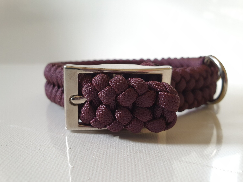 Sanctified Small Burgundy Dog Collar