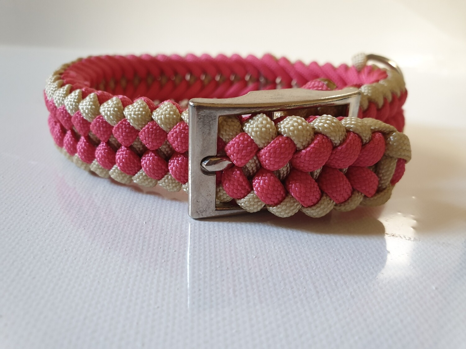 Sanctified Small Pink/Beige Dog Collar