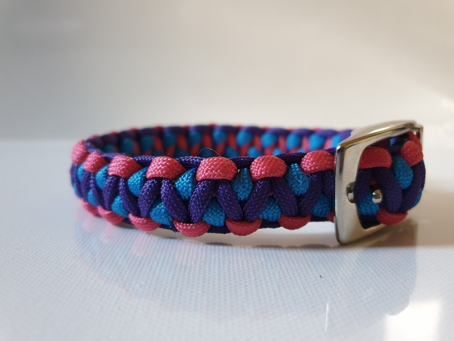 Drakon Small Pink/Blue/Purple Dog Collar