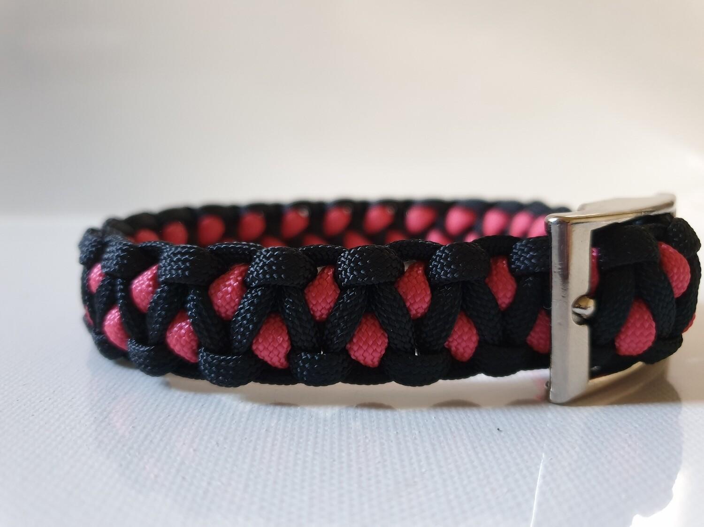 Drakon Small Pink/Black Dog Collar