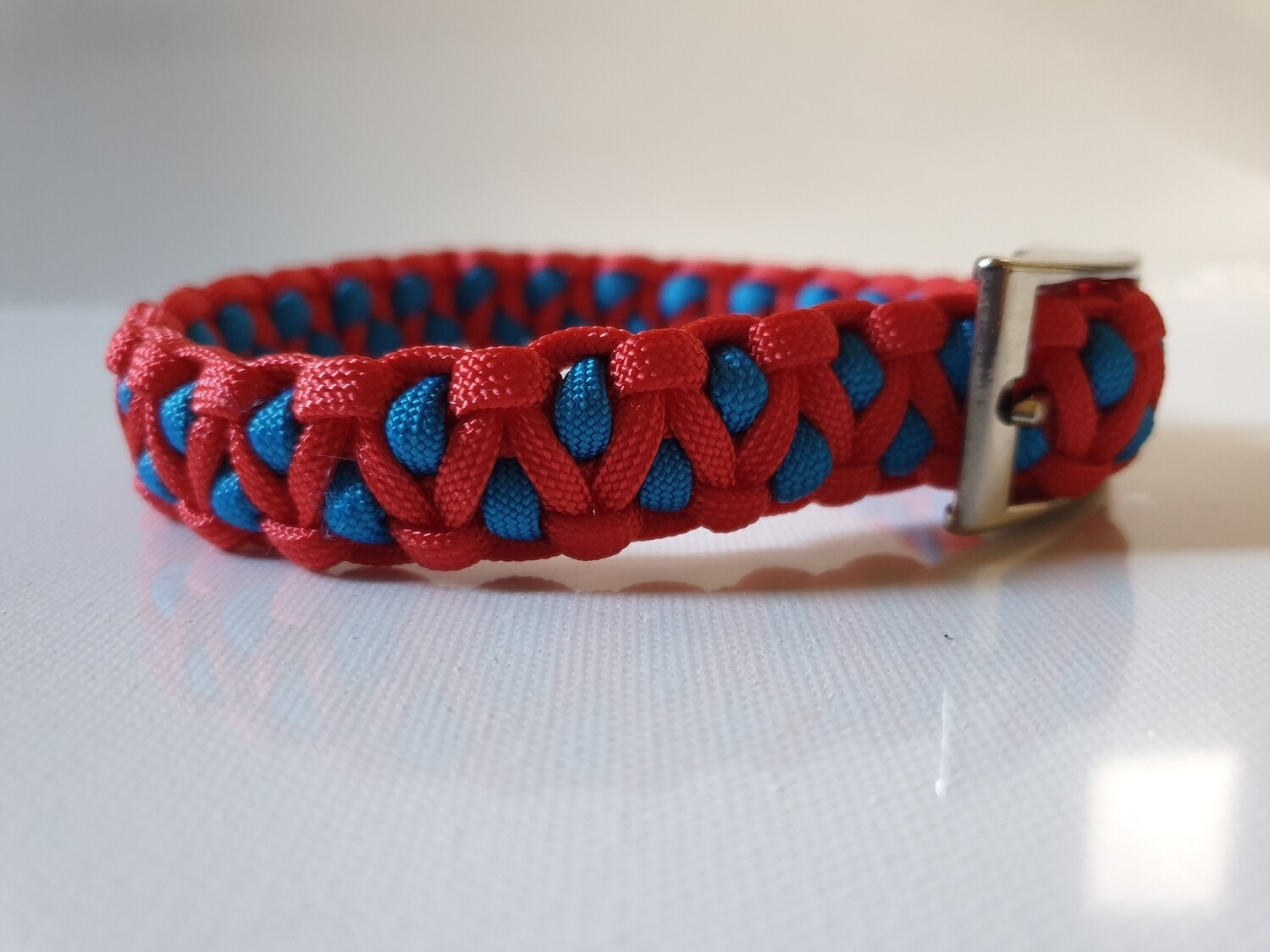 Drakon Small Blue/Red Dog Collar