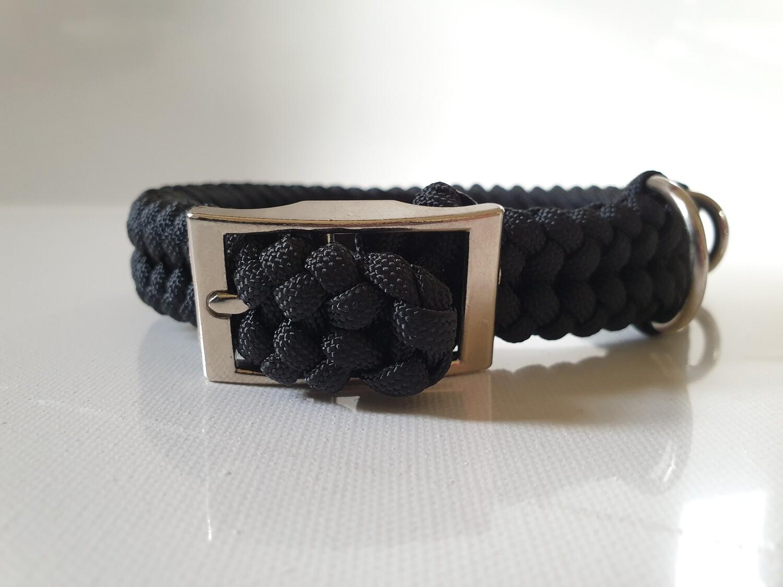 Sanctified Small Black Dog Collar