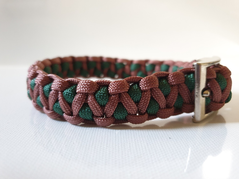 Drakon Small Hunter Green/Brown Dog Collar