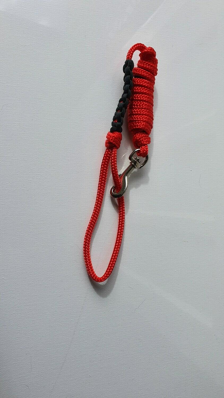 1m Red/Black Rope Dog Lead