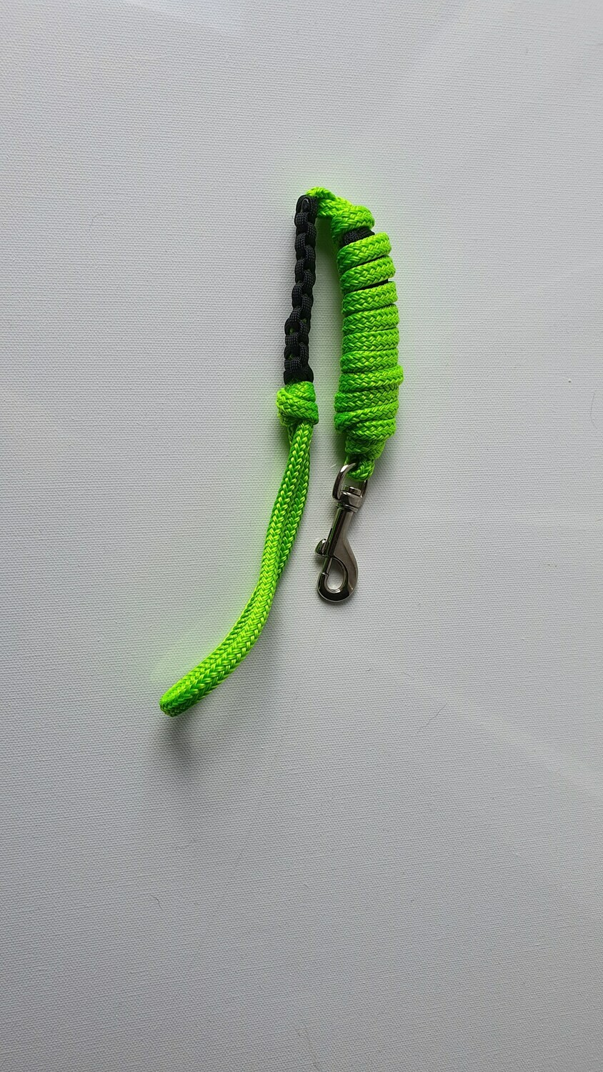1m Lime Green/Black Rope Dog Lead