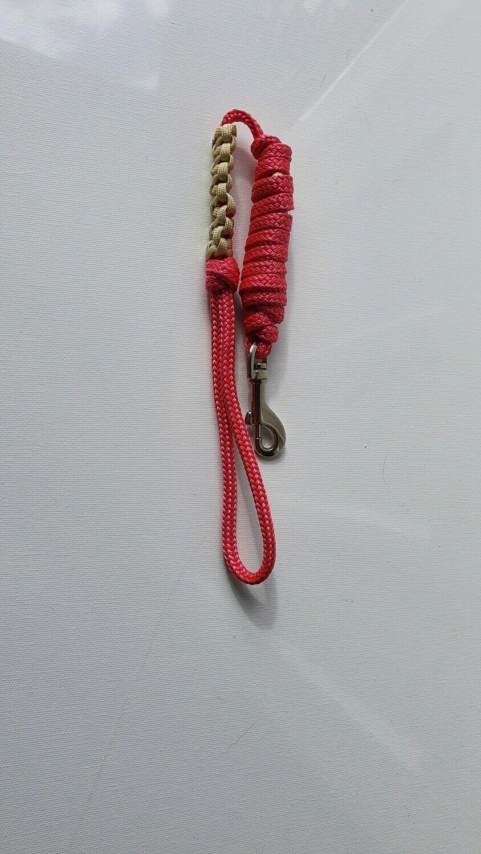 1m Pink/Beige Rope Dog Lead