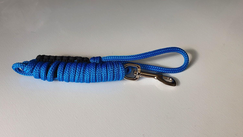 1.82m Blue/Black Rope Dog Lead