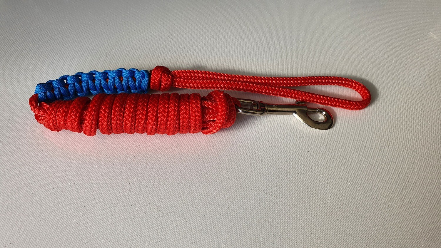 1.82m Red/Blue Rope Dog Lead