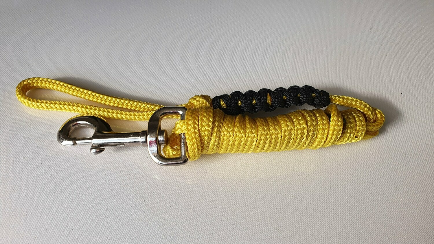 1.82m Yellow/Black Rope Dog Lead