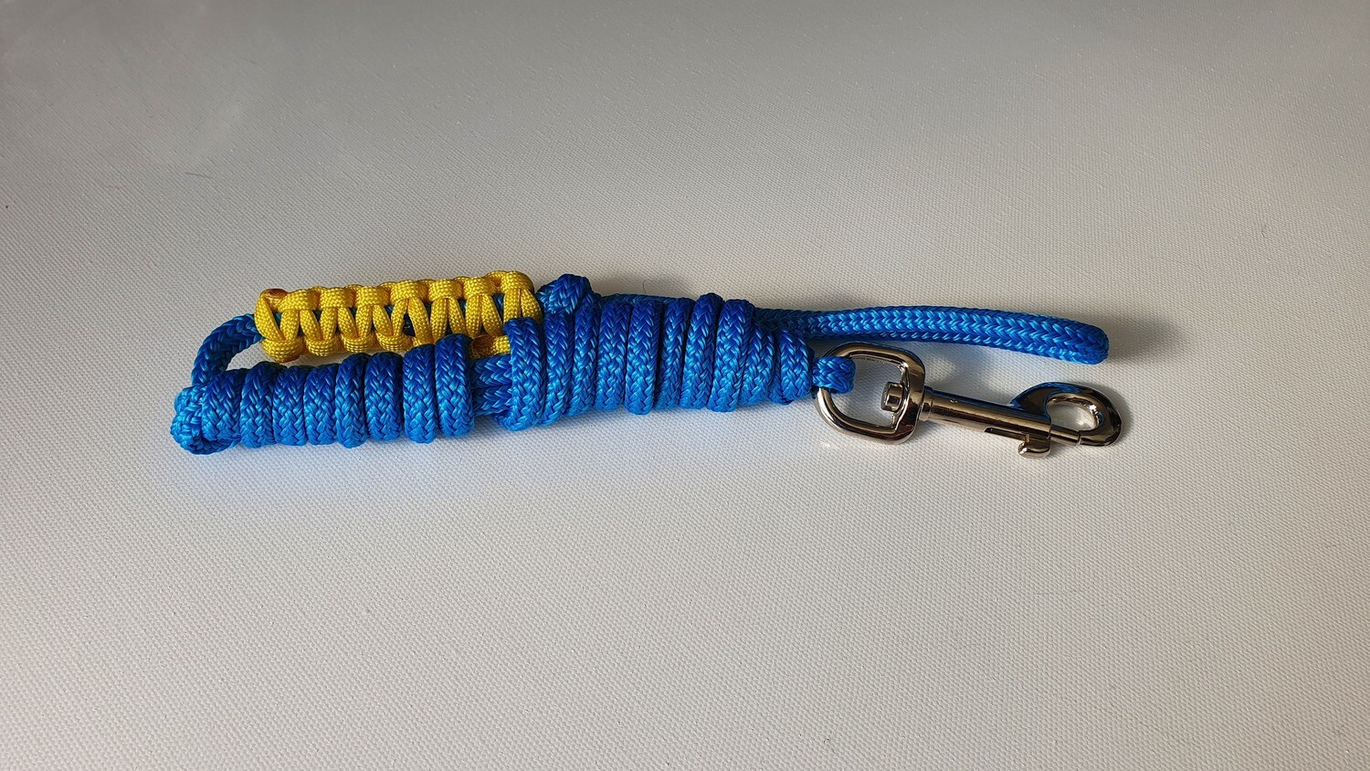 1.82m Blue/Yellow Rope Dog Lead