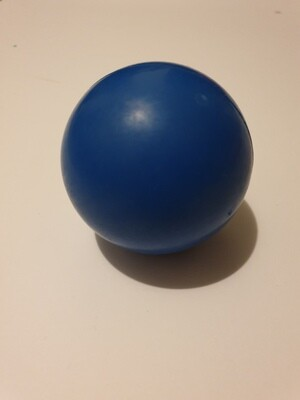 Large Blue Solid Rubber Ball