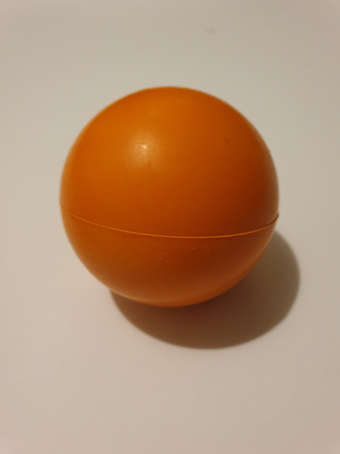Large Orange Solid Rubber Ball