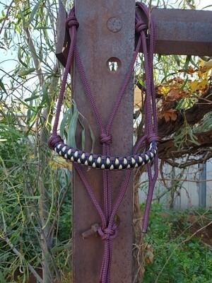 Drakon Burgundy/Navy/Beige Rope Halter