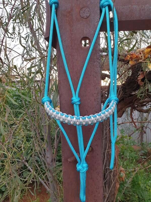 Drakon Aqua/Silver/White Rope Halter